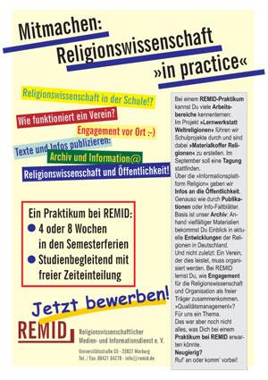 Grafik: Plakat zum Praktikum